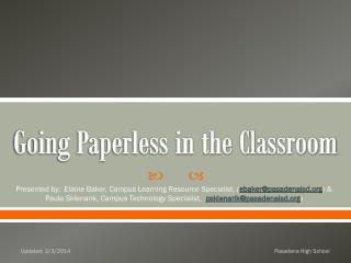 Going Paperless in the Classroom