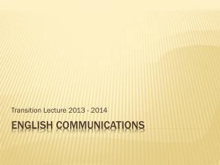English Communications