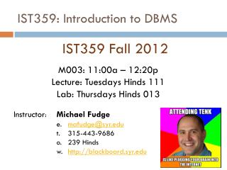 IST359: Introduction to DBMS
