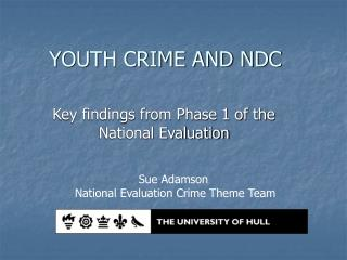 YOUTH CRIME AND NDC
