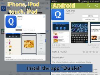 "Install the app "" Quizlet """