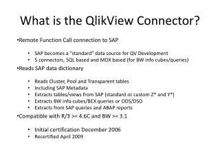 What is the QlikView Connector?