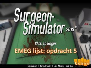 EMEG lijst: opdracht 5