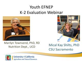 Youth  EFNEP K-2 Evaluation Webinar