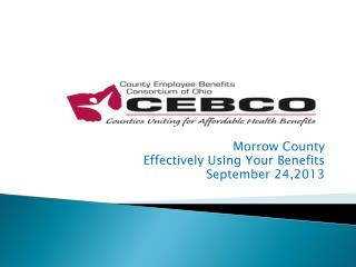 Morrow County Effectively Using Your Benefits September 24,2013