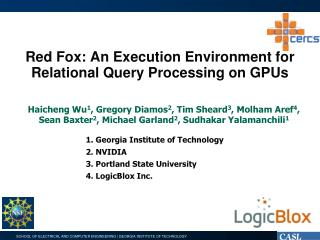 Red  Fox:  An  Execution Environment for Relational Query Processing on GPUs