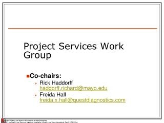 Project Services Work Group