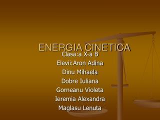 ENERGIA CINETICA