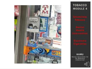 Tobacco Module 4