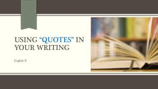 Using  �quotes�  in your writing