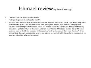 Ishmael review  by Sean Cavanagh