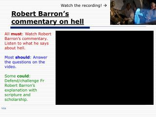 Robert Barron's commentary on hell