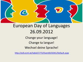 European Day  of Languages  26.09.2012