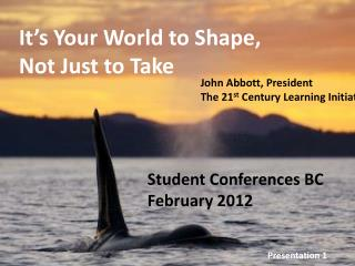 Student Conferences BC February 2012