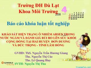 GVHD :  ThS .  Nguyễn Trần Hương Giang Ths .  Nguyễn Thị Cúc