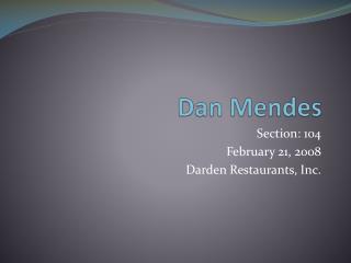 Dan Mendes