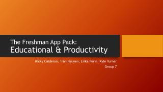 The Freshman App Pack: Educational & Productivity