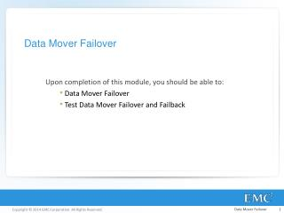 Data Mover Failover