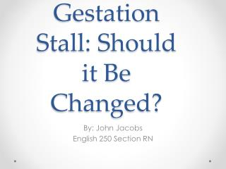 Gestation Stall: Should it Be Changed?
