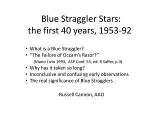 Blue Straggler Stars: the first 40 years, 1953-92