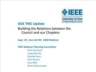 TMC Chapters 73 Chapters  Celia Desmond TMC Chapter Coordinator