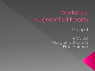 Workshop  Augmented Reality