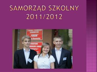 Samorząd szkolny 2011/2012