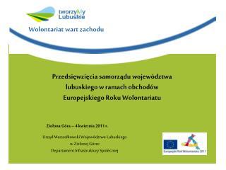 Urząd Marszałkowski Województwa Lubuskiego w Zielonej Górze  Departament Infrastruktury Społecznej