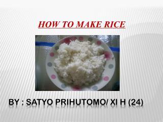 BY : SATYO PRIHUTOMO/ XI H (24)