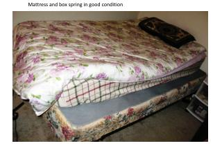 Mattress and box spring in good condition
