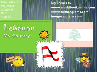 Lebanon , My Country