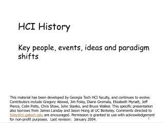 HCI History