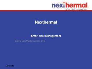 Electric Heating Solutions - Nexthermal Smart Heat Managemen