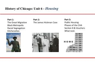 History of Chicago: Unit 6 -  Housing