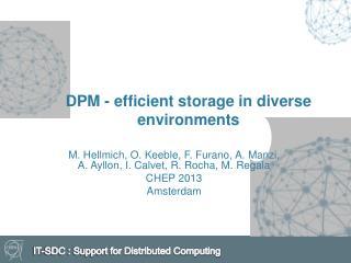 DPM - efficient storage in diverse  environments