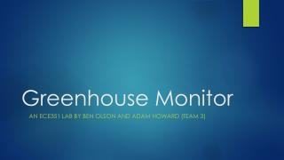 Greenhouse Monitor