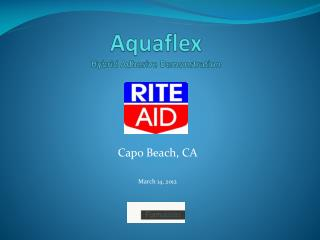 Aquaflex Hybrid Adhesive Demonstration