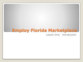 Employ Florida Marketplace