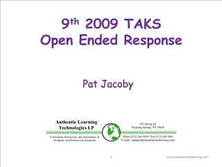 9th 2009 TAKS  Open Ended Response