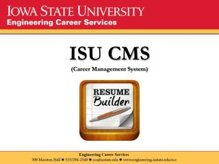 ISU CMS (Career Management System)