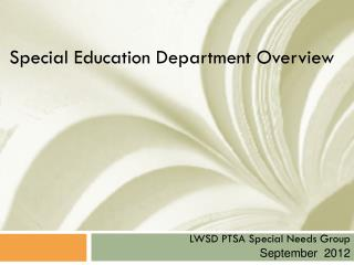 Special Education Department  Overview