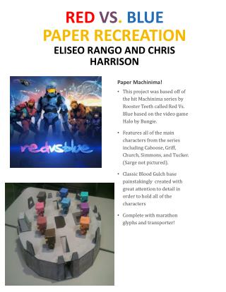 Red Vs .  Blue  Paper recreation Eliseo Rango  and Chris Harrison