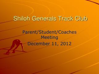 Shiloh Generals Track Club