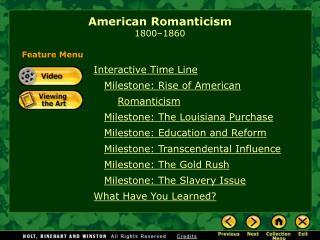 American Romanticism 1800 1860