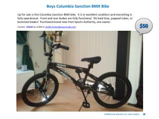 Boys  Columbia  Sanction BMX Bike