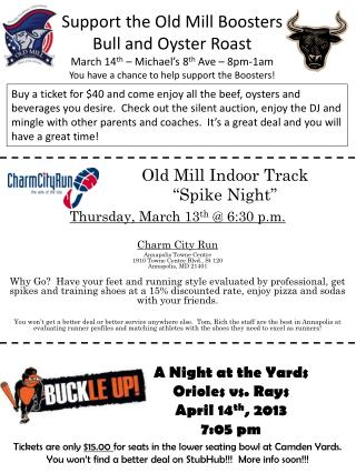 Old Mill Indoor Track �Spike Night�