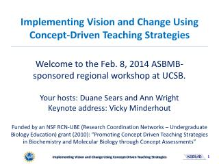 Implementing Vision and Change Using Concept-Driven Teaching Strategies