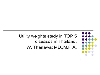 Utility weights study in TOP 5 diseases in Thailand. W. Thanawat MD.,M.P.A.