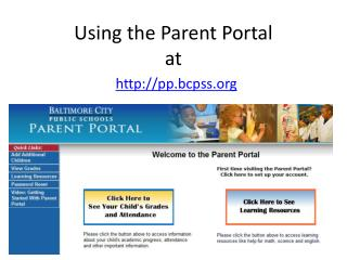 Using the Parent Portal at