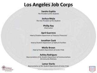 Los Angeles Job Corps Sandra  Espitia   The  President of the Students Joshua  Mejia